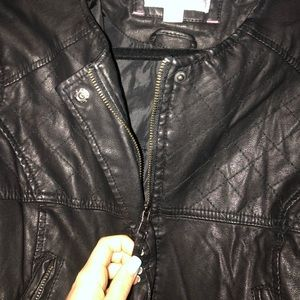 Xhilaration Jackets & Coats - Leather jacket with zips and buttons!